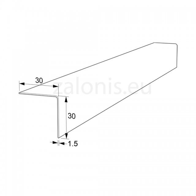 PLASTIC ANGLE PROFILE 30x30 WHITE 280cm
